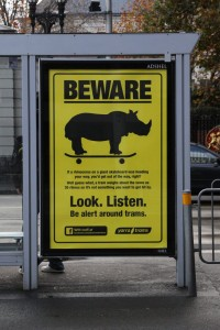 Yarra Trams - Beware the Rhino advertisement