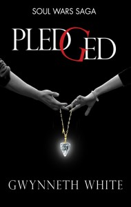 The cover of 'Pledged' by Gwynneth White
