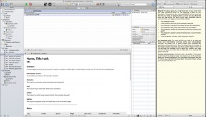 Scrivener - Snowflake layout w QuickReference