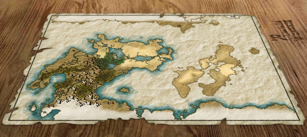 My first fantasy map