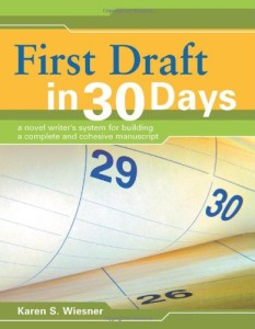 The cover of First Draft in 30 Days by Karen Wiesner