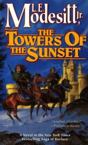 The cover of The Towers of the Sunset by L.E. Modesitt Jnr.