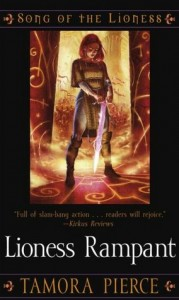 The cover of 'Lioness Rampant' by Tamora Pierce