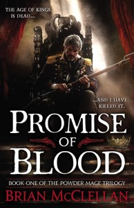 The cover of Promise of Blood by Brian McCellan